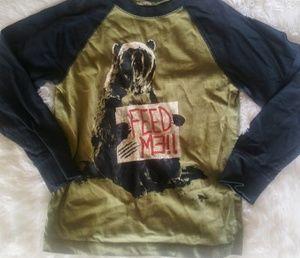 "🌈 BOGO🌈 Sz 6 Gymboree green ""Feed Me"" t-shirt"